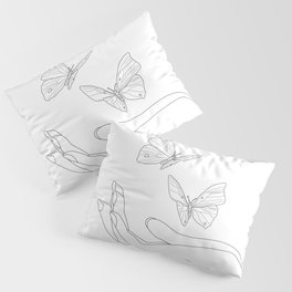 Butterflies on the Palm of the Hand Kissenbezug