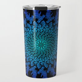 Ombre Tribal Hammerhead Mandala Travel Mug