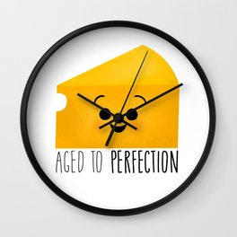 Aged To Perfection - Cheese Wall Clock