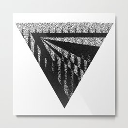Discardable Triangle Metal Print