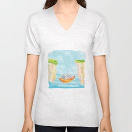 Adventure Ho! Unisex V-Neck