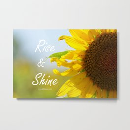 Rise and Shine Sunflower Metal Print