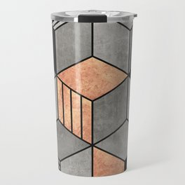 Concrete and Copper Cubes 2 Travel Mug