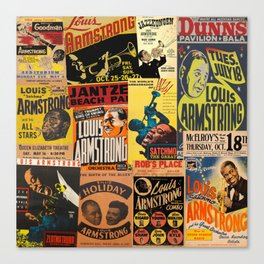 Louis Armstrong Canvas Print