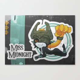 Midna - Miss Midnight Canvas Print