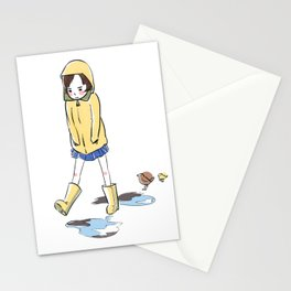 Grumpy Gail Steps Over Puddles Stationery Cards