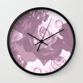 Rose bouquet - beautiful roses from rose garden - vintage style Wall Clock