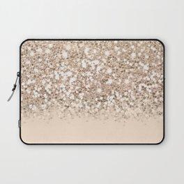 Dazzling Platinum Gold Gradient  Laptop Sleeve