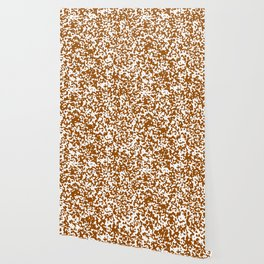 Small Spots - White and Brown Wallpaper