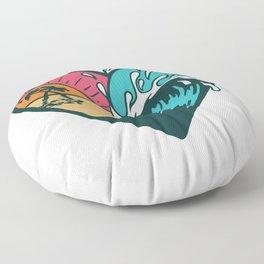 Wave Heart Floor Pillow