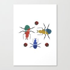 playful insects Canvas Print