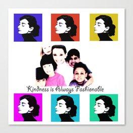 Audrey Tribute Canvas Print