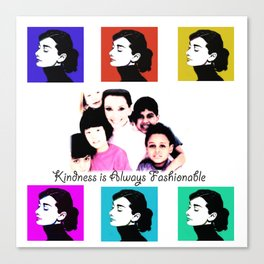 Audrey Tribute Canvas Print