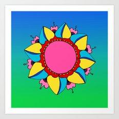 Colorburst Mandala Art Print