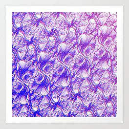 Optische Bloem Art Print
