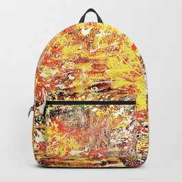 Golden Autumn Abstract Backpack