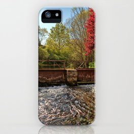 Fall Foliage Along River iPhone Case