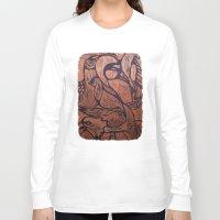 wesley bird Long Sleeve T-shirts featuring bird      by Amy Fan