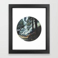 Nature on Fire Framed Art Print