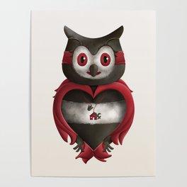 Xavier the Owl Poster
