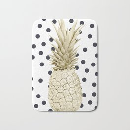 Pineapple Polka Dots Bath Mat