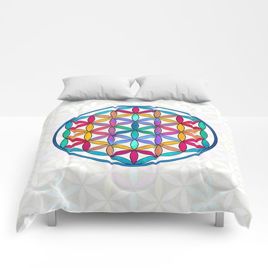 Flower of Life variation 3 Comforters