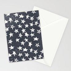 Linocut Stars - Navy & White Stationery Cards