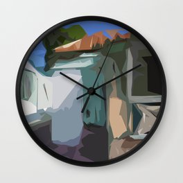 ST. Maarten Color Block House  Wall Clock