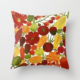 Whimsical Fruit Salad Throw Pillow