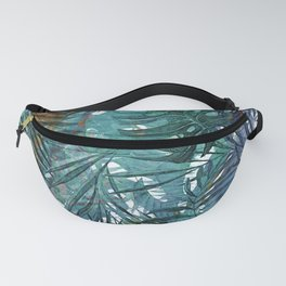 Aloha - Tropical Palm Leaves and Monstera Leaf Garden Fanny Pack