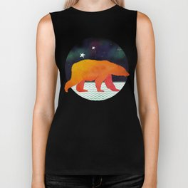 Aurora Bear -  Technicolour Safari, Polar bear Biker Tank