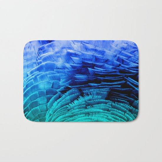 RUFFLED BLUE Bath Mat