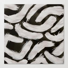 Worms, Abstract, White & Black Canvas Print