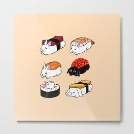 Sushi Bunnies Metal Print