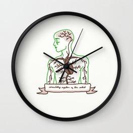 Circulatory system of the artist (M) Wall Clock