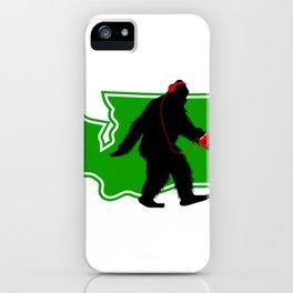 Bigfoot walk in Washington iPhone Case