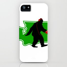 Bigfoot walk in Washington iPhone Case