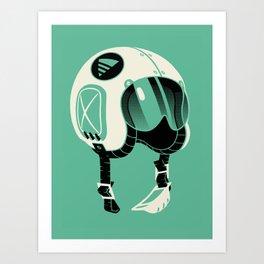 Super Motherload - Keep Helmet On Art Print