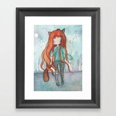 Wolf girl Framed Art Print