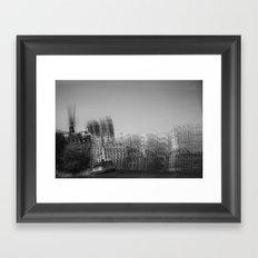 then finds me in black + white Framed Art Print