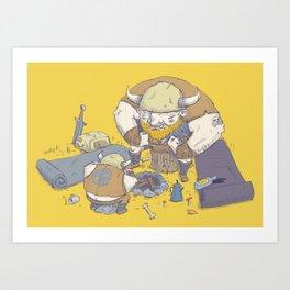 Posturing Vikings Art Print