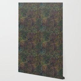 Floral Pansy Pattern Wallpaper