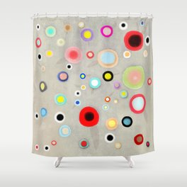 Abstract Happy Circles Shower Curtain