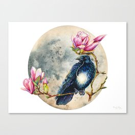 Moonglow and the Raven Canvas Print