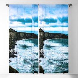 Ireland Cliff Waves Blackout Curtain