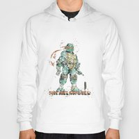 teenage mutant ninja turtles Hoodies featuring Michelangelo Teenage Mutant Ninja Turtles by Carma Zoe