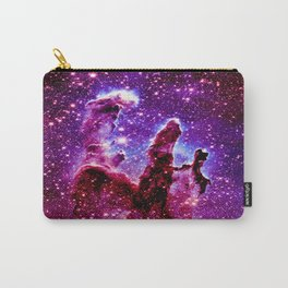 galaxy nebula : Pink & Purple pillars of creation Carry-All Pouch