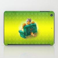 sofa iPad Cases featuring Family sofa by Bakal Evgeny