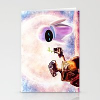 wall e Stationery Cards featuring Wall-e by p1xer