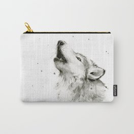 Wolf Howling Carry-All Pouch